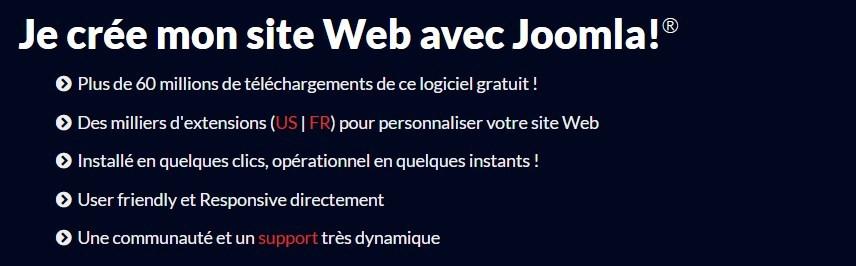 Créer son site avec le CMS Joomla