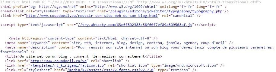 Son site web ou son blog avec joomla