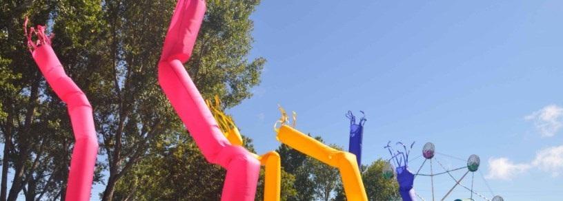 Des skydancers lors d'un événement