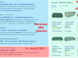 Différence SEA et SEO