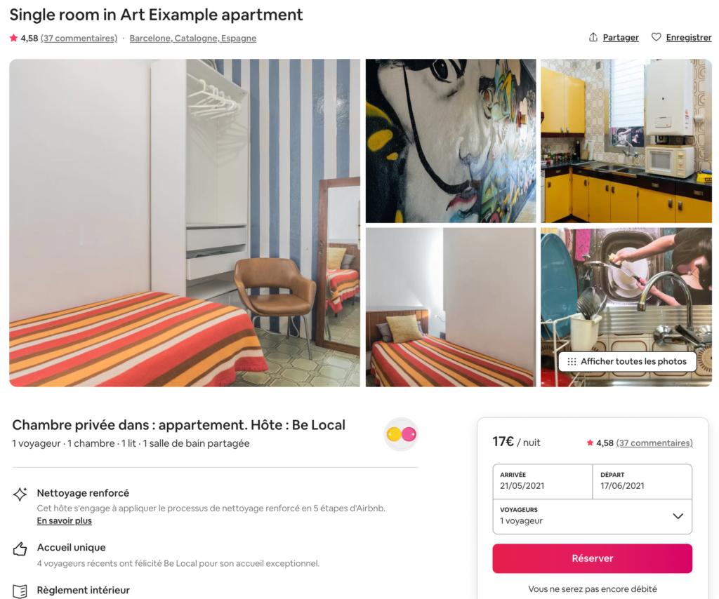 Harmonie couleur Airbnb